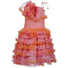 Deals, Discounts & Offers on Kid's Clothing - Lil Poppets Girl's Bubble Pink Dress