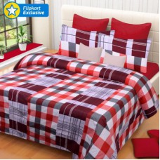 Deals, Discounts & Offers on Home Decor & Festive Needs - IWS Polyester 3D Printed Double Bedsheet