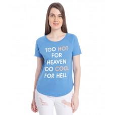 Deals, Discounts & Offers on Women Clothing - Vero Moda Blue Round Neck Top