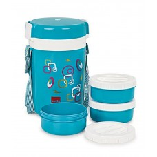 Deals, Discounts & Offers on Home & Kitchen - Cello Elite Blue & White Lunch Box
