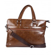 Deals, Discounts & Offers on Accessories - Kiara Brown P.U. Office Bag