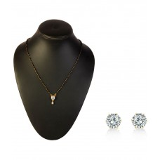 Deals, Discounts & Offers on Women - Payal Fashion White German Silver Mangalsutra Set