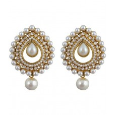 Deals, Discounts & Offers on Women - Renaissance Traders Golden Alloy Hanging Pearl Earring