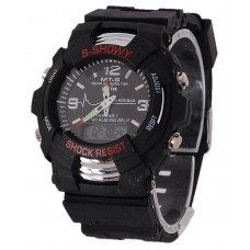 Deals, Discounts & Offers on Men - JKC Black Analog-Digital Watch