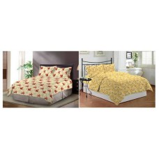 Deals, Discounts & Offers on Furniture -  UPTO 37% Off Bombay Dyeing 3 Pcs Cotton Double Bedsheet Set