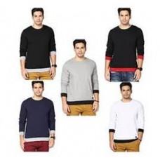 Deals, Discounts & Offers on Men Clothing - Rigo Combo of 5 Cotton Men T Shirts@ 1299