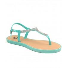 Deals, Discounts & Offers on Foot Wear - Carlton London Turquoise Flat Slip-on