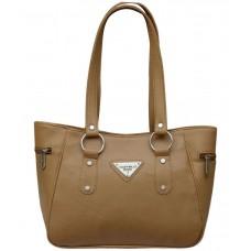 Deals, Discounts & Offers on Accessories - Fostelo Beige P.U. Zip Shoulder Bag offer