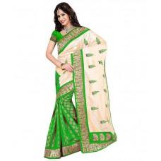 Deals, Discounts & Offers on Women Clothing - Kalazone Green Bhagalpuri Silk Saree