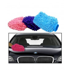 Deals, Discounts & Offers on Car & Bike Accessories - Microfiber Glove Mitt for Car Cleaning Washing