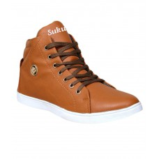 Deals, Discounts & Offers on Foot Wear - Sukun Beige Lace Up Casual Shoes