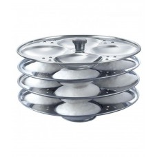 Deals, Discounts & Offers on Home & Kitchen - Pearl Stainless Steel Idli Stand 4 Plates