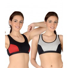 Deals, Discounts & Offers on Women - Selfcare Multi Color Cotton T-Shirt Bra Bra Pack of 2