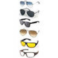 Deals, Discounts & Offers on Accessories - Ediotic sunglasses combo of 6 offer