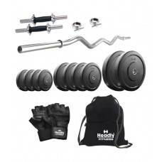 Deals, Discounts & Offers on Auto & Sports - Headly 10 Kg Home Gym, 14 Inch Dumbbells, Curl Rod, Gym Backpack, Accessories