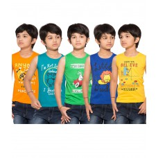Deals, Discounts & Offers on Baby & Kids - Maniac Pack of 5 Multicolour Sleeveless T-Shirts