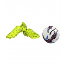 Deals, Discounts & Offers on Auto & Sports - Nivia Combo of Encounter Football Shoes and Storm Football