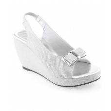 Deals, Discounts & Offers on Foot Wear - Shoe Lab Silver Heeled Sandals