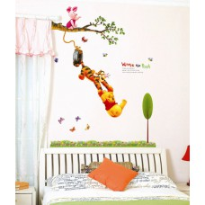 Deals, Discounts & Offers on Home Decor & Festive Needs - Winnie The Pooh Hanging in Tree Disney (Licensed) Wallsticker