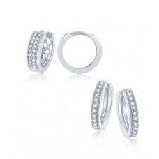 Deals, Discounts & Offers on Women - Gandhi Jewellers Sterling Silver 2 Pairs Huggie Earrings Bali