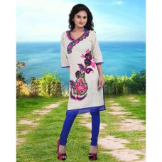 Deals, Discounts & Offers on Women Clothing - 24 Karat Online Latest Off White Kurti