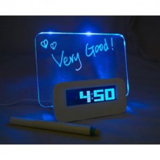 Deals, Discounts & Offers on Stationery - LED Light Fluorescent Message Board Digital  Wall Alarm Clock Calendar
