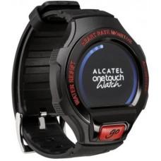 Deals, Discounts & Offers on Accessories - Alcatel Go Watch Black & Dark Red Smartwatch