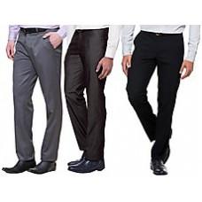 Deals, Discounts & Offers on Men Clothing - Wajbee Combo Of 3 Cotton Men Pants