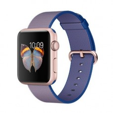 Deals, Discounts & Offers on Men - New Imported Apple Watch Rose Gold Aluminium Case Royal Blue Nylon