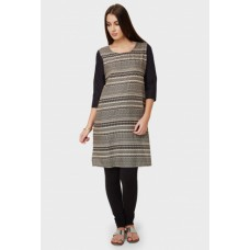 Deals, Discounts & Offers on Women Clothing - MELANGE Printed Round Neck Kurti