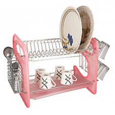 Deals, Discounts & Offers on Home Appliances - Home Creations Pink 16 Inches Utensils Kitchen Rack