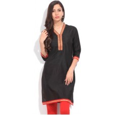 Deals, Discounts & Offers on Women Clothing - People Solid  Straight Kurta