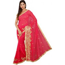 Deals, Discounts & Offers on Women Clothing - Aryahi Embriodered Fashion Chiffon Sari