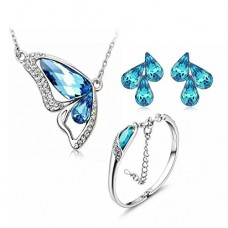 Deals, Discounts & Offers on Women - YouBella Valentine Collection Crystal Jewellery Combo of Pendant Set