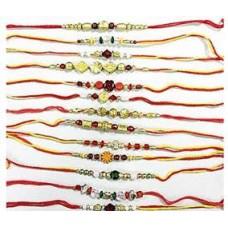Deals, Discounts & Offers on Home Decor & Festive Needs - Set Of 5 Rakhi's  @ Rs. 51
