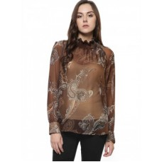 Deals, Discounts & Offers on Women Clothing - GLAMOROUS High Neck Paisley Print Blouse