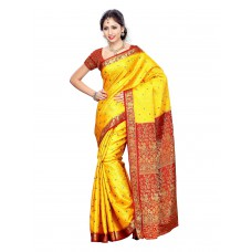 Deals, Discounts & Offers on Women Clothing - Upto 67% off on Mimosa Women Kanchipuram Art Silk Saree With Contrast Blouse
