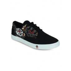 Deals, Discounts & Offers on Foot Wear - Black canvas slip on sneakers