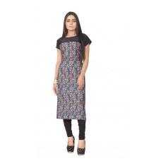 Deals, Discounts & Offers on Women Clothing - ZIYAA MULTI COLOR DIGITAL PRINT CREPE KURTI
