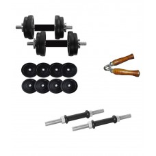 Deals, Discounts & Offers on Accessories - Aurion 16 Kg Dumbbell Set With Accessories