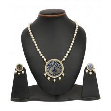 Deals, Discounts & Offers on Women - Johareez White & Golden Brass Necklace Set
