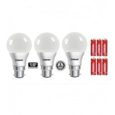 Deals, Discounts & Offers on Home Decor & Festive Needs - Eveready 9W (Pack of 3) 6500K 100LUMENS/W Cool Day Light LED Bulb