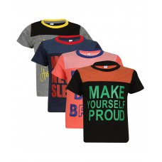 Deals, Discounts & Offers on Men Clothing - Luke and Lilly Multicolour Cotton T-Shirt - Pack of 4