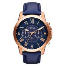 Deals, Discounts & Offers on Men - Fossil FS4835 Blue Leather Analog Watch