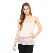 Deals, Discounts & Offers on Women Clothing - Flat 57% off on The Vanca Peach Rayon Tops