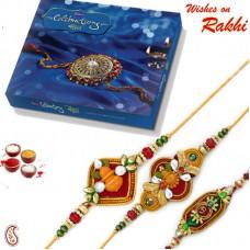 Deals, Discounts & Offers on Home Decor & Festive Needs - Rakhi Gifts - Set Of 3 Divine Rakhis With Cadbury Celebartion Box