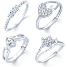Deals, Discounts & Offers on Women - Sukkhi Alloy Cubic Zirconia Rhodium Ring