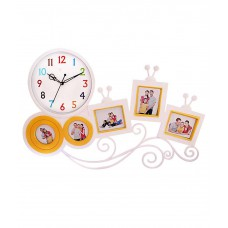 Deals, Discounts & Offers on Home Decor & Festive Needs - Flat 67% off on Fieesta White Plastic Wall Clock