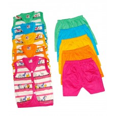 Deals, Discounts & Offers on Kid's Clothing - APT Padhus Multicolor Cotton Top & Bottom Set