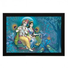 Deals, Discounts & Offers on Home Decor & Festive Needs - Delight Radha Krishna Morpinchh Digital Printed UV Photo Frame